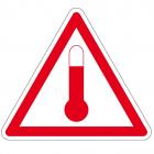 , Indicatie risico te hoge temperaturen